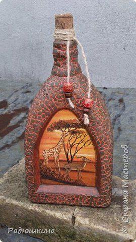 Декор предметов День рождения Новый год Декупаж Новинки и не только Бутылки стеклянные Коробки фото 1