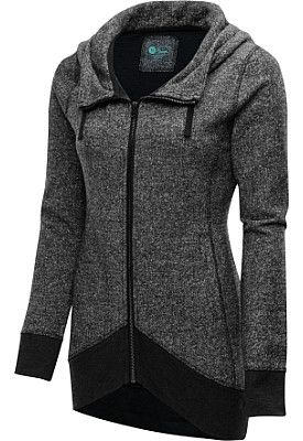 Since what you wear to class is as important as the rest of your attire, this BLOOM® women's full-zip hooded yoga jacket was crafted to be both fashionable and functional.