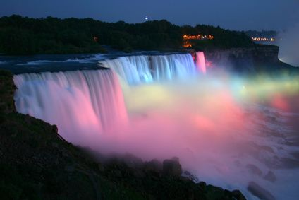 Niagara Falls, Ontario. I've been there at night with the light show, so beautiful!