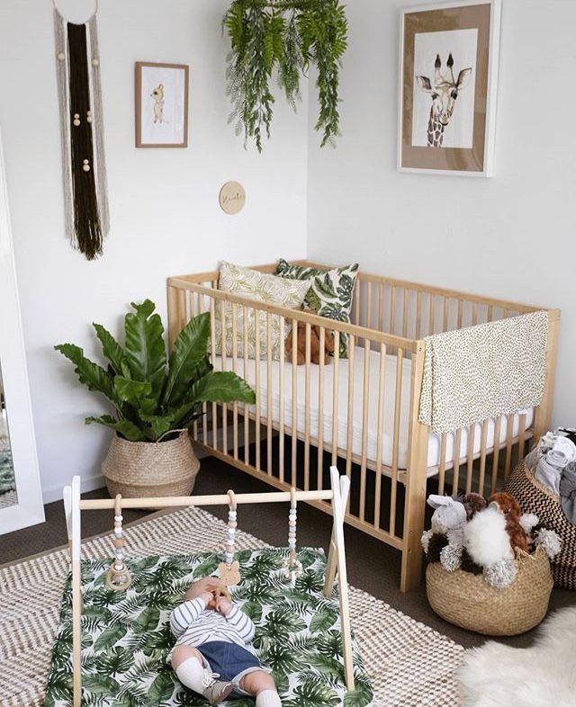 Gender Neutral Nursery For A Boho Baby Modern Baby Room Nursery Room Boy Nursery Baby Room