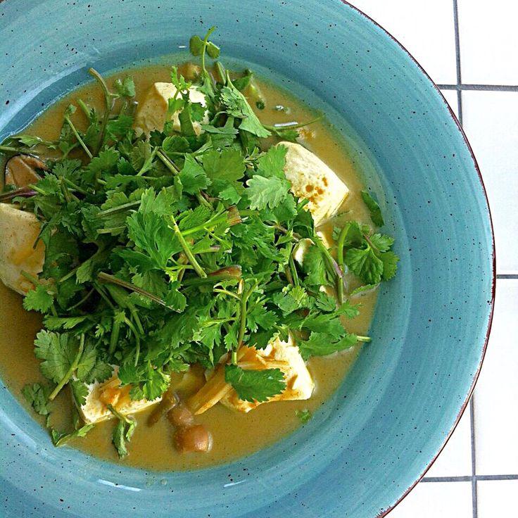 Green curry (TOFU & cilantro)/グリーンカレー(お豆腐&山盛りパクチー)