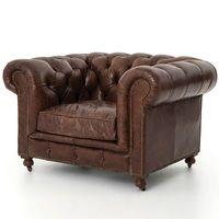 Conrad Vintage Cigar Leather Chesterfield Armchair