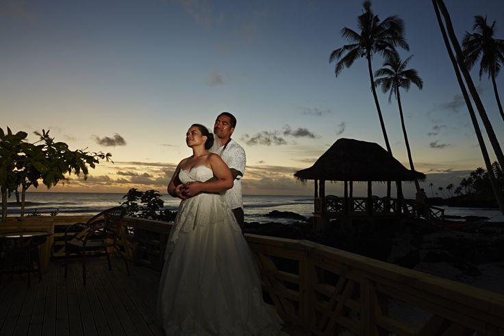 Tom & Mel Wedding October 2013 Return to Paradise Beach Resort, SAMOA