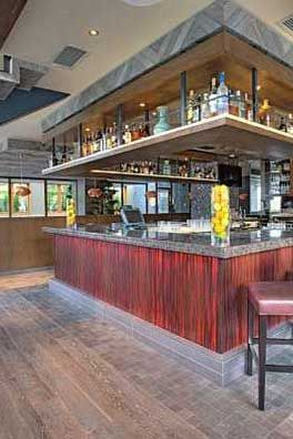Wooden Floor; Here, P.F Chang's combines Chinese inspired food and the French bistro concept. We supplied a custom made Chapel wooden floor, which the owner used for both the floor and the ceiling.  P.F. Chang's   Istanbul, Turkey
