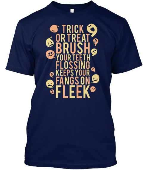Fangs on Fleek shirts, hoodies, stickers, dental, dentist, assistant, hygienist, tech, technician, funny, halloween, humor