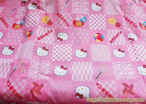 Kawaii rouge arc Hello Kitty fleur de cerisier moulinet feux