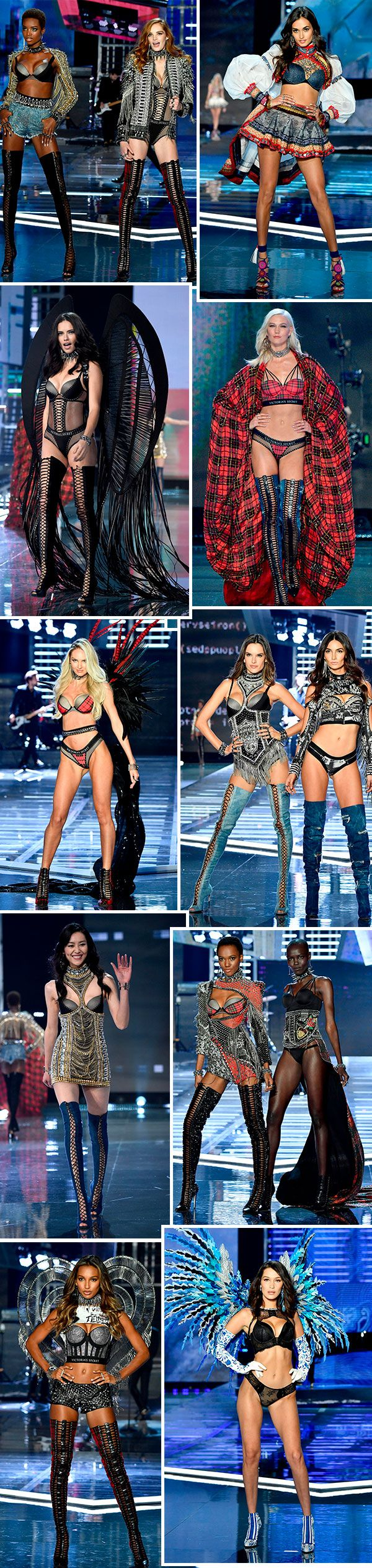 Looks do Victoria's Secret Fashion Show 2017, em Shaghai.