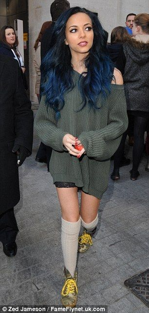 Jade Thirwall and Perrie Edwards opted for very different outfits to battle the cold