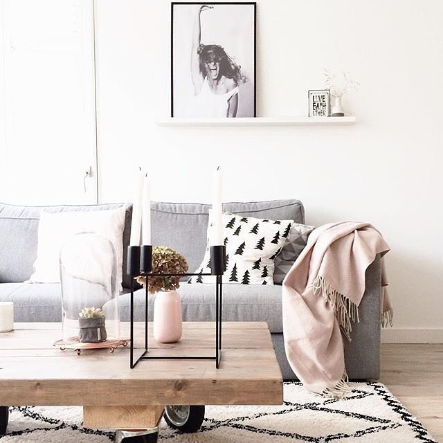 The lovely living room of follower <a href='/laurra8' target='_blank'>@laurra8</a> the rug, that throw, that coffee table