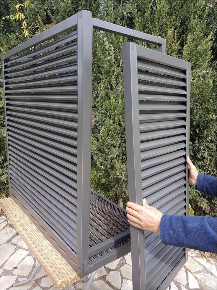 Mueble de celosía para ocultar compresor de aire
