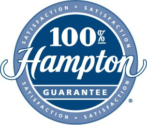 1989 - Hampton Hotels is the first hotel company to promise 100% Satisfaction Guarantee. It states: Friendly service, clean rooms, comfortable surroundings, every time. If you're not satisfied, we don't expect you to pay.