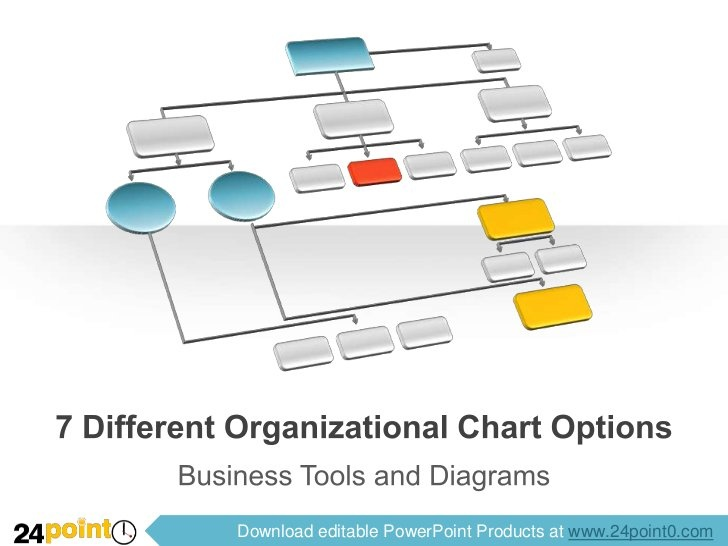 7 Different Organizational Chart Options by 24Point0 , via Slideshare