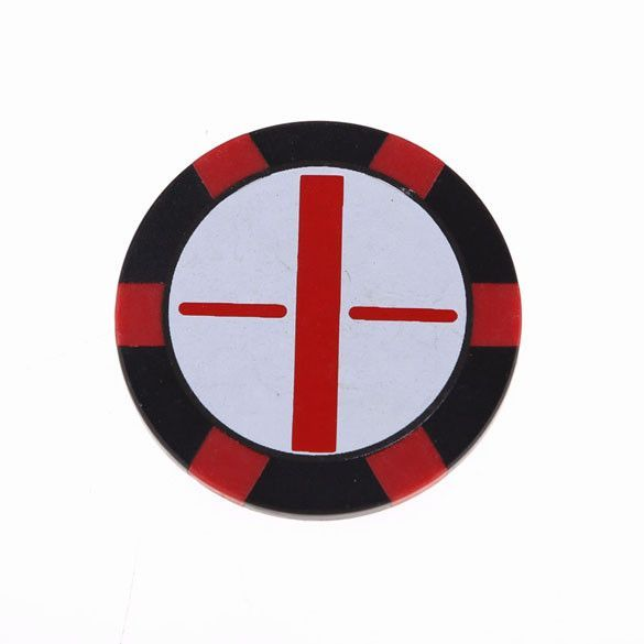 New Promotion 1.5Inch Flat Golf Ball Marker Push Shot Golf Accessory Iron Red H1E1