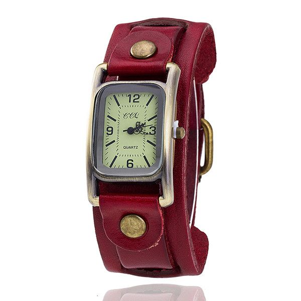 Vintage Leather Band Watch //Price: $14.95 & FREE Shipping //       #win #outfit