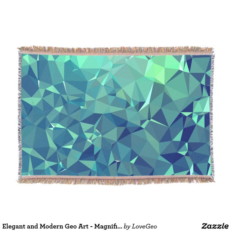 Elegant and Modern Geo Art - Magnificent Glacier Throw Blanket #LoveGeo #geometric #abstract #Uniquegifts #trendy #shopping #giftidea #personalized #throws #homedecor