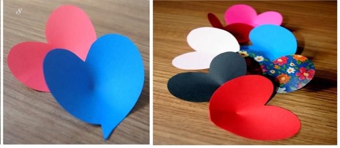 """Coração de papel modelo conchinha. """"DIY"""""""