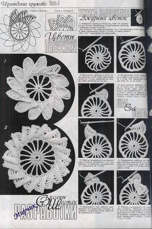 more Irish crochet motifs