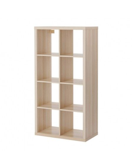 KALLAX Shelving unit, 2x4, White stained oak