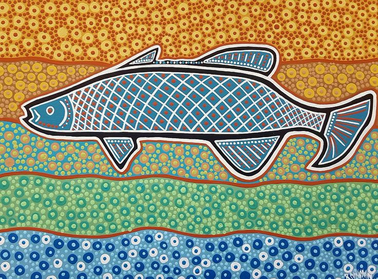 Barramundi with a twist of colour, contemporary and traditional blend.  Price $300 AU