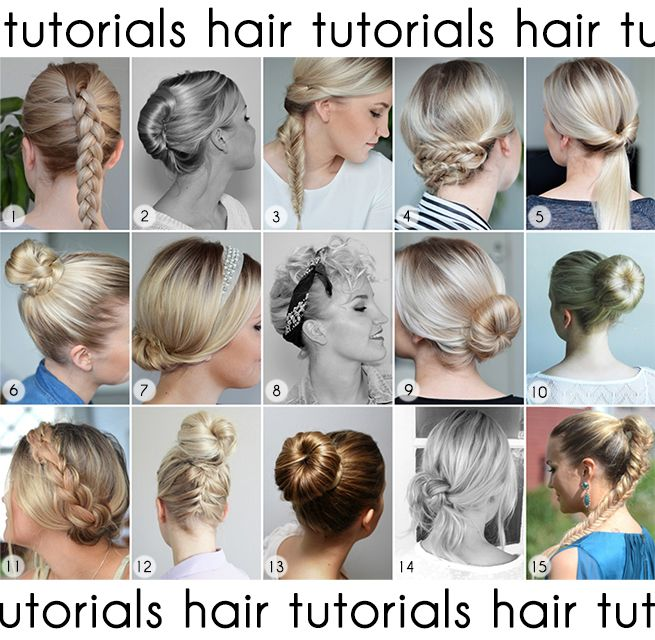 Nude blog's hair tutorials!
