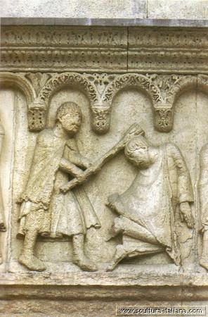 Wiligelmo - Storia della genesi (particolare, Duomo di Modena)