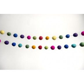 Felt Ball Garland - Rainbow