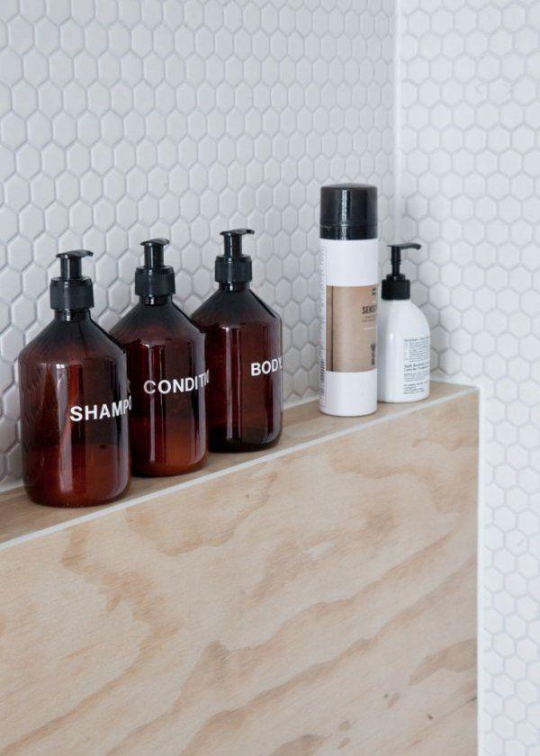 Décoration salle de bain: quand les flacons deviennent éléments design - Marie Claire Maison