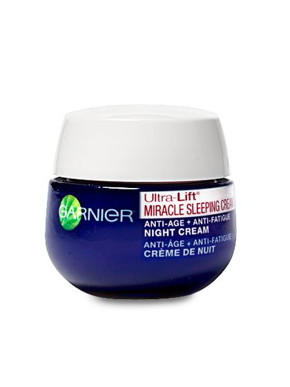 Acure Night Cream: MOISTURIZER Garnier Ultra-Lift Miracle Sleeping Cream, $15  This sleep mask makes skin softer and more radiant overnight. It also moisturizes and soothes with lavender oil.