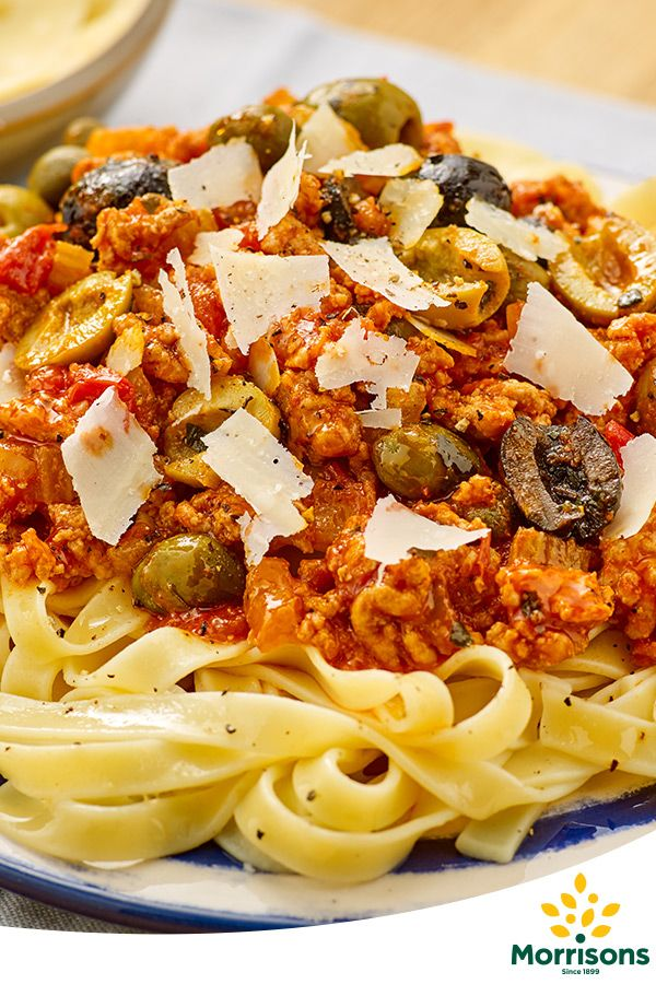 In the mood for affection? Try our Gluten Free Tagliatelle bolognese with olives and capers recipe from our Emotion Cookbook