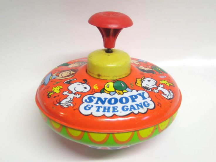Popular Toys In The 1960s : Vintage s toy top snoopy and gang ohio art works