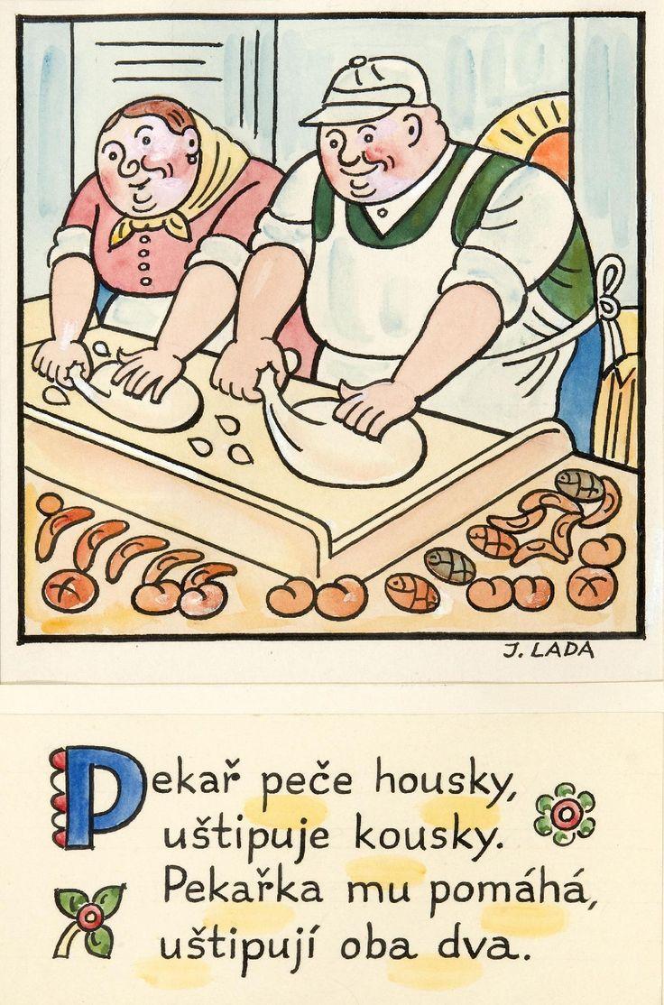 Kalamajka – Pekař peče housky, 1913