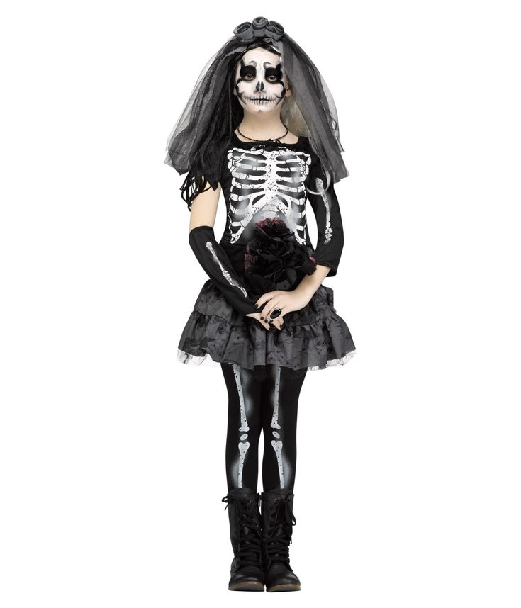 ghastly skeleton bride girls costume halloween costumes girlsscary