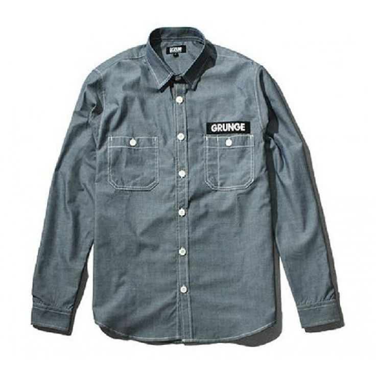 "Grunge, an alternative rock genre. Rock it with this Izzue ""Grunge"" Button Up Shirt Collection at fusionswag.com #Izzue #buttonup #shirt #streetfashion #streetwear #urbanwear #fusionswag"