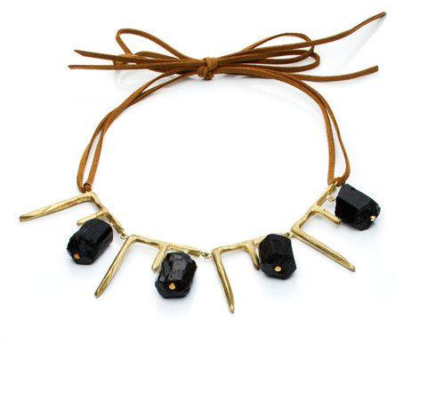 Icicles and Bricks necklace by Natalie Frigo.
