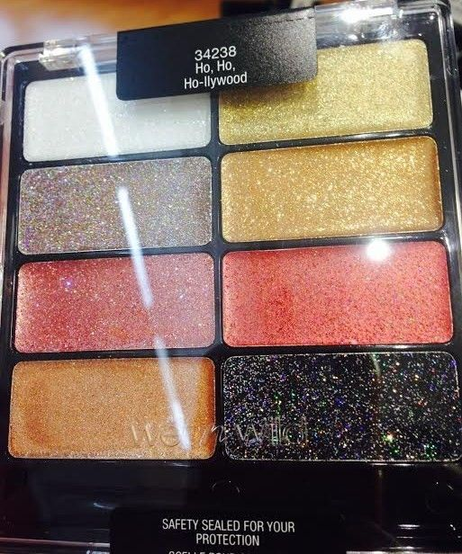 Spotted: Wet n Wild Holiday 2014 limited edition Coloricon eyeshadow palette (glitter cream shadows)