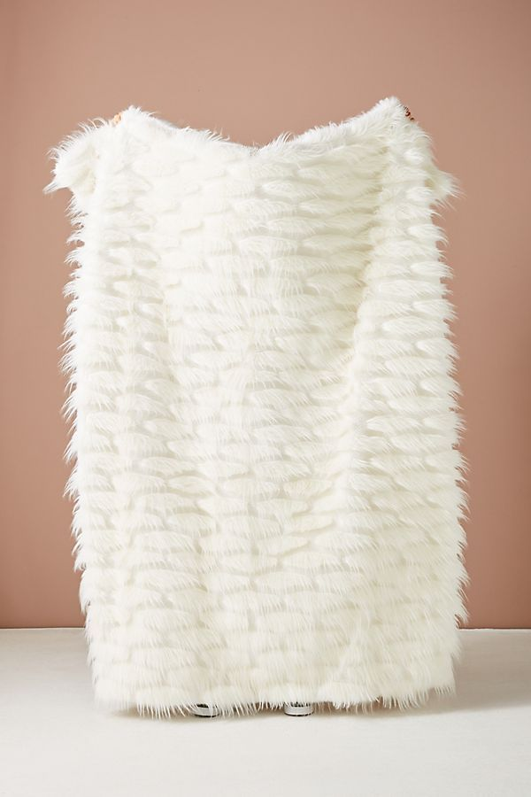 Feathered Faux Fur Throw Blanket Home Gifts Faux Fur Throw Blanket White Faux Fur Throw Throw Blanket