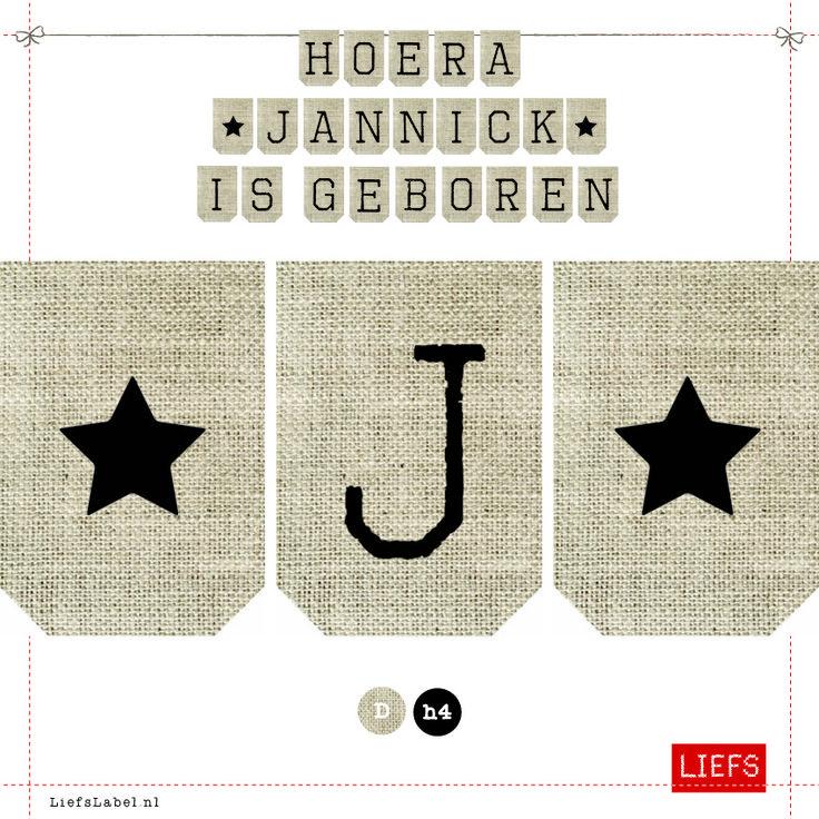 Hoera Jannick is geboren ♡ Kids ♡ Thema Sjors ♡ Maak ook je eigen slinger! ♡ www.LiefsLabel.nl