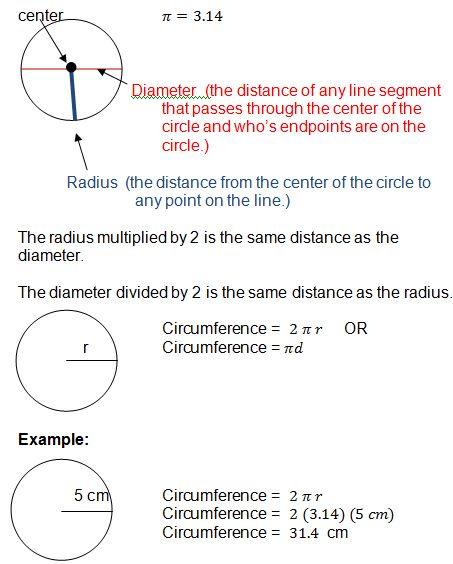 how to work out the perimeter of a circle
