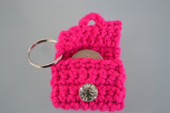 Aldi quarter holder, shopping cart quarter keeper, quarter keychain, crochet keychain