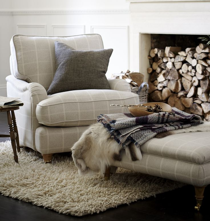 Cosy perfection! Add stacked logs for a rustic winter look in the home! #FlavoursofXmas