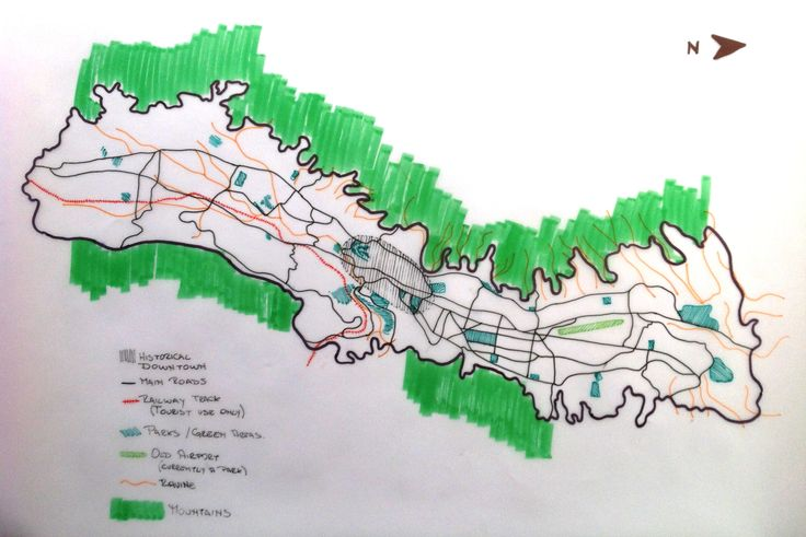 Week 1: Hi my name is Carla this is a traced map from Quito.
