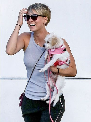 Kaley Cuoco with Ruby. She also has another rescue Norman.