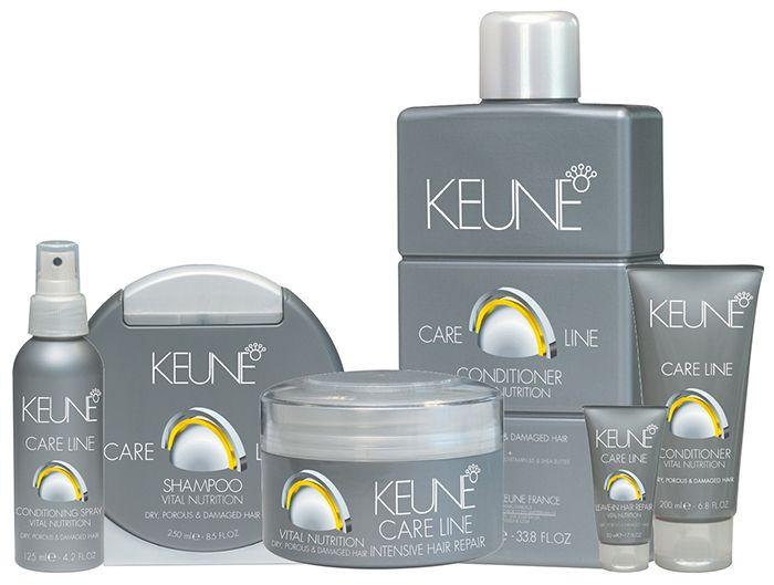 Care Line Vital Nutrition. Tratamento para cabelo seco, poroso e danificado. Para a recuperação intensiva do cabelo, a linha Vital Nutrition, desenvolvida com a tecnologia Nutri-Injection que regenera e estabelece uma camada de proteção ao redor do fio. A linha deixa o cabelo macio, brilhante e fácil de pentear. Produto não recomendado para couro cabeludo oleoso, cabelos finos e naturais (sem processo químico).
