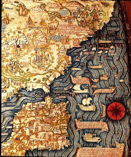 Map of the world by Fra Mauro, 1459 Spain, Portugal and Northern Africa. Fra Mauro was a 15th-century Venetian monk. In his youth, Mauro traveled as a merchant and a soldier. Although he was no longer free to travel, due to his religious status, he would consult with merchants of the city upon their return from voyages. By 1450 he composed a great mappamundi with surprising accuracy, including extensive written comments reflecting the geographic knowledge of his time.