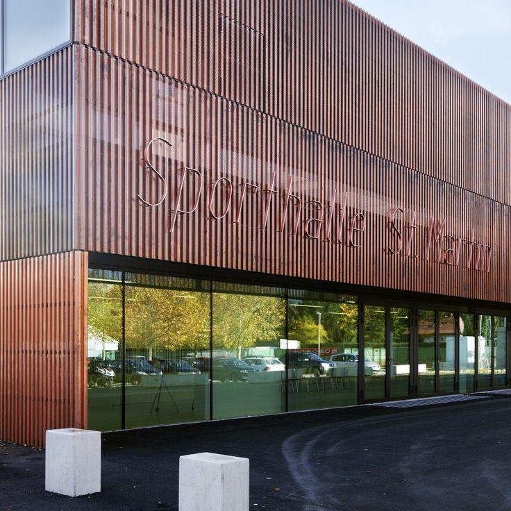 Gallery Of Sports Hall St. Martin / Dietger Wissounig Architekten   15. Metal  FacadeMetal ...