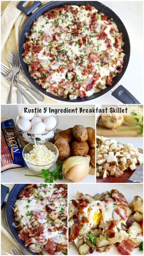 rustic 5 ingredient breakfast skilet