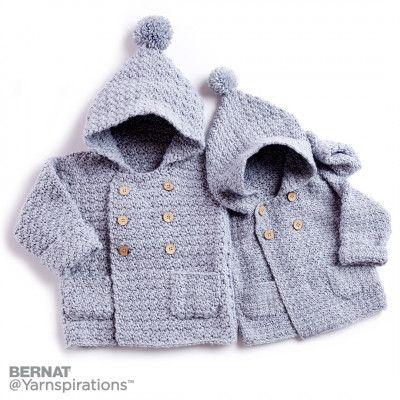 Bernat Big Kid Cozy Crochet Hoodie, Crochet Pattern | Yarnspirations