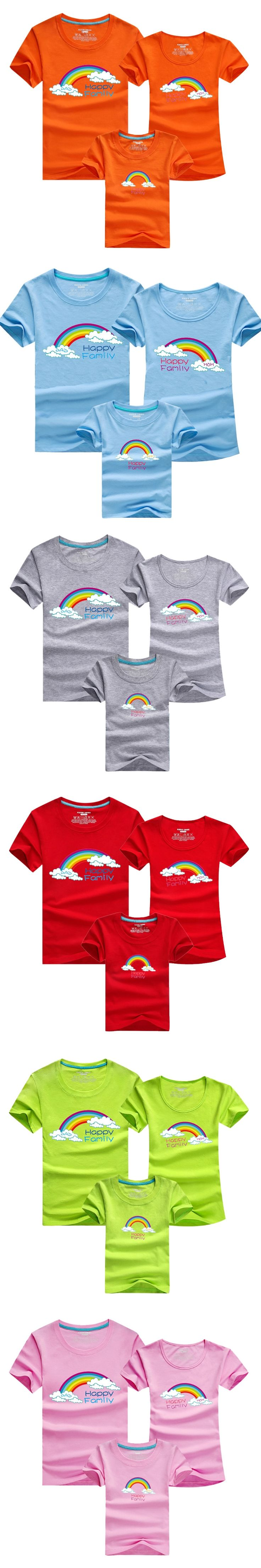 1 Piece Family Matching Clothes T Shirts 11 Colors Solid SummerFamily Look Father & Mother & Kids matching family clothes