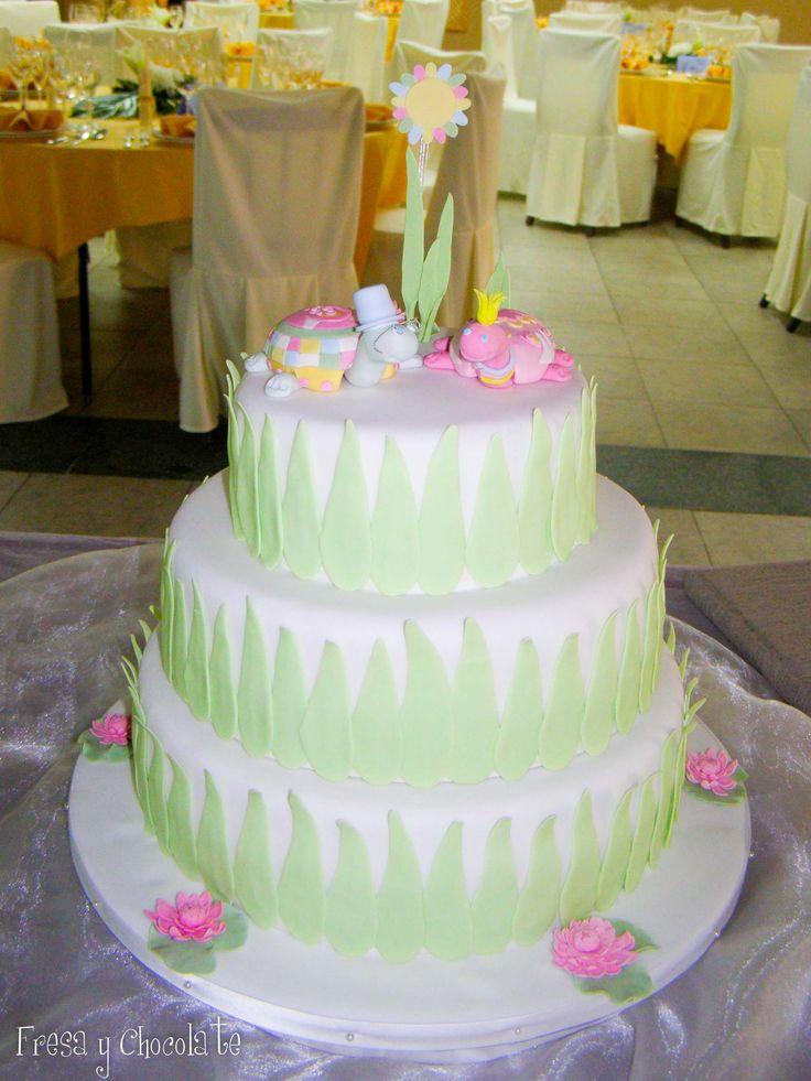 Tarta de boda con tortugas