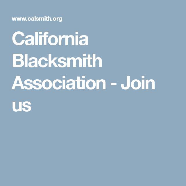 California Blacksmith Association - Join us